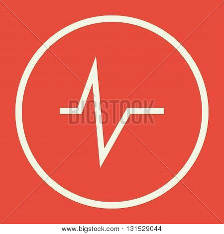 Pulse Icon In Vector Format. Premium Quality Pulse Symbol. Web Graphic Pulse Sign On Red Background.