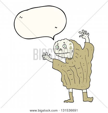 freehand drawn speech bubble cartoon halloween ghoul