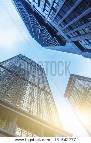 low angle view of skyscrapers of chongqing city,china