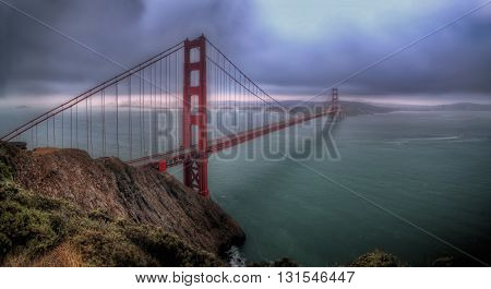 A view of Golden Gate San Francisco California
