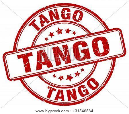 Tango Red Grunge Round Vintage Rubber Stamp.tango Stamp.tango Round Stamp.tango Grunge Stamp.tango.t