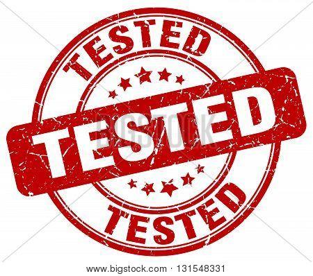 Tested Red Grunge Round Vintage Rubber Stamp.tested Stamp.tested Round Stamp.tested Grunge Stamp.tes