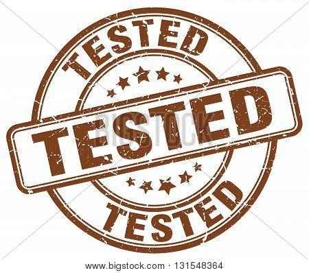 Tested Brown Grunge Round Vintage Rubber Stamp.tested Stamp.tested Round Stamp.tested Grunge Stamp.t
