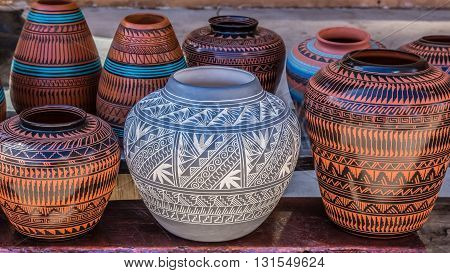 Native American pottery Santa Fe New Mexico