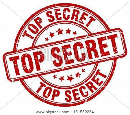 Top Secret Red Grunge Round Vintage Rubber Stamp.top Secret Stamp.top Secret Round Stamp.top Secret