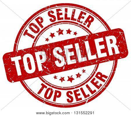 Top Seller Red Grunge Round Vintage Rubber Stamp.top Seller Stamp.top Seller Round Stamp.top Seller