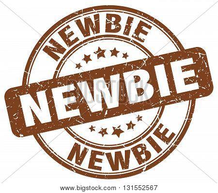 newbie brown grunge round vintage rubber stamp.newbie stamp.newbie round stamp.newbie grunge stamp.newbie.newbie vintage stamp.