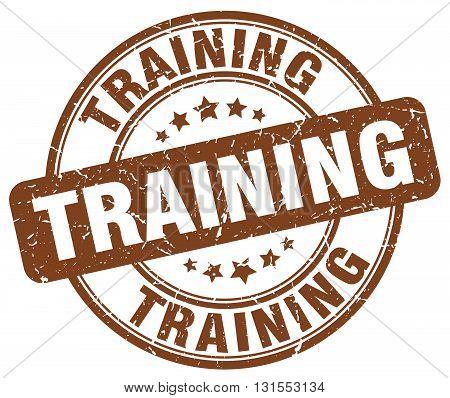 Training Brown Grunge Round Vintage Rubber Stamp.training Stamp.training Round Stamp.training Grunge