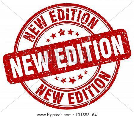 new edition red grunge round vintage rubber stamp.new edition stamp.new edition round stamp.new edition grunge stamp.new edition.new edition vintage stamp.