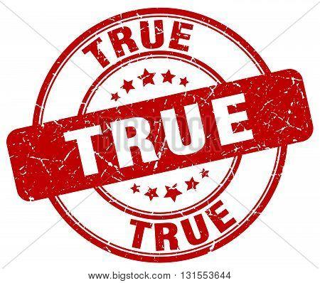 True Red Grunge Round Vintage Rubber Stamp.true Stamp.true Round Stamp.true Grunge Stamp.true.true V