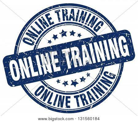 online training blue grunge round vintage rubber stamp.online training stamp.online training round stamp.online training grunge stamp.online training.online training vintage stamp.