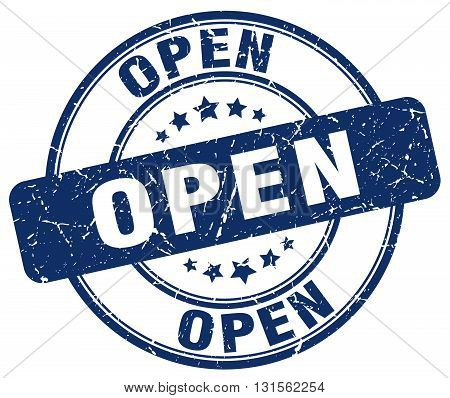 open blue grunge round vintage rubber stamp.open stamp.open round stamp.open grunge stamp.open.open vintage stamp.