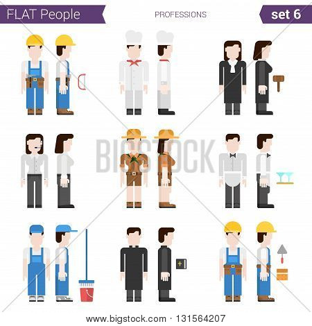 Flat style design people vector icon collection