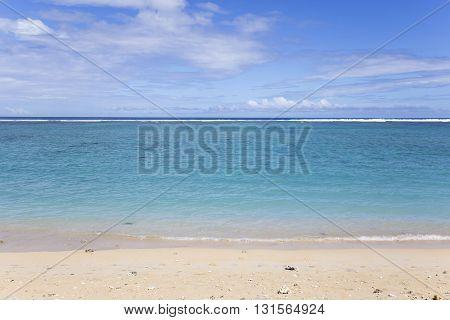 LA SALINE LA REUNION FRANCE MAY 02 : La Saline beach La Reunion island Indian Ocean may 02 2016 in Saint Gilles La Reunion France poster