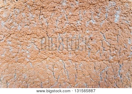 Cracked mud wall texture in Taneka Koko village, Benin, Africa