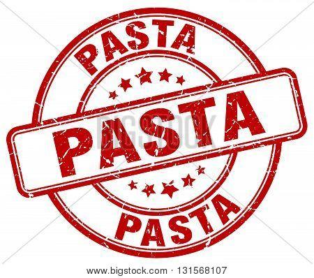 pasta red grunge round vintage rubber stamp.pasta stamp.pasta round stamp.pasta grunge stamp.pasta.pasta vintage stamp.