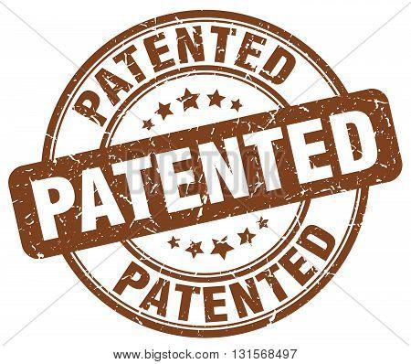 patented brown grunge round vintage rubber stamp.patented stamp.patented round stamp.patented grunge stamp.patented.patented vintage stamp.