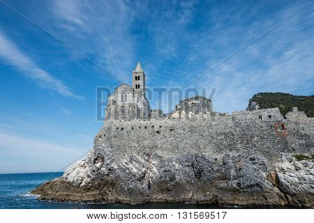 a view of portovenere in liguria italy