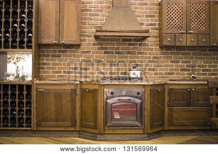 Clasic old style shabby chic kitchen interior
