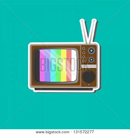 Old Tv banner background for online business