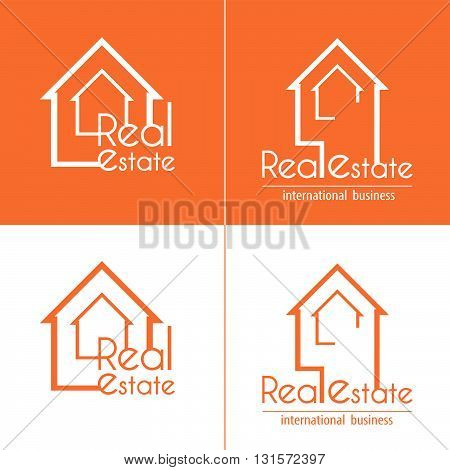 Sketch real estate house map for business set