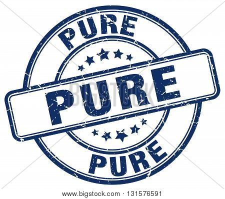 pure blue grunge round vintage rubber stamp.pure stamp.pure round stamp.pure grunge stamp.pure.pure vintage stamp.