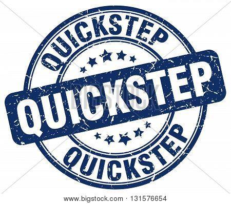 quickstep blue grunge round vintage rubber stamp.quickstep stamp.quickstep round stamp.quickstep grunge stamp.quickstep.quickstep vintage stamp.
