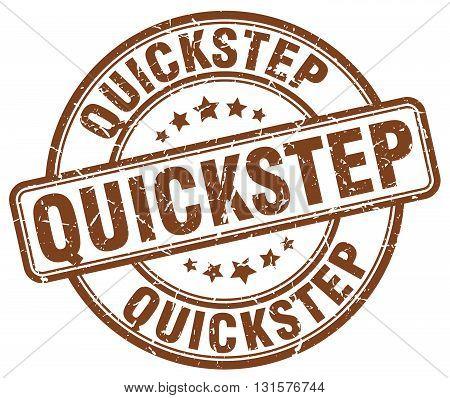quickstep brown grunge round vintage rubber stamp.quickstep stamp.quickstep round stamp.quickstep grunge stamp.quickstep.quickstep vintage stamp.