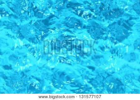 Rippled Blue Water Surface In Swimming Pool