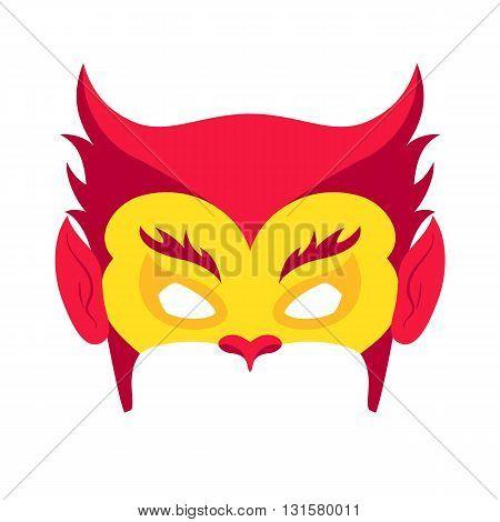 Super hero red mack. Superhero mask for face character in flat style. Masks of heroic, savior or superhero. Comic super hero mask vector illustration. Super hero photo props. Super hero face. Spider