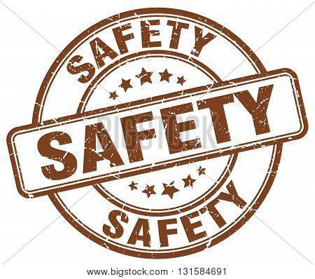 safety brown grunge round vintage rubber stamp.safety stamp.safety round stamp.safety grunge stamp.safety.safety vintage stamp.