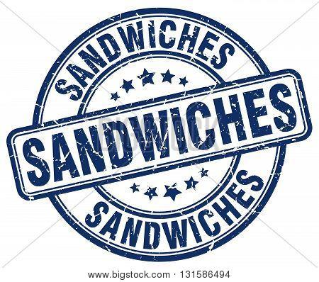 sandwiches blue grunge round vintage rubber stamp.sandwiches stamp.sandwiches round stamp.sandwiches grunge stamp.sandwiches.sandwiches vintage stamp.