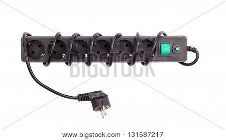 The surge protector on a white background