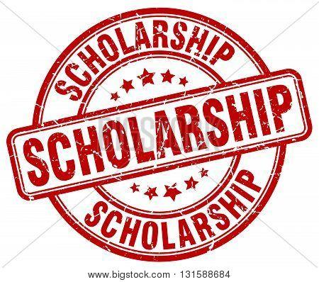 scholarship red grunge round vintage rubber stamp.scholarship stamp.scholarship round stamp.scholarship grunge stamp.scholarship.scholarship vintage stamp.