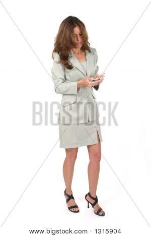 Business Woman Using Pda 5