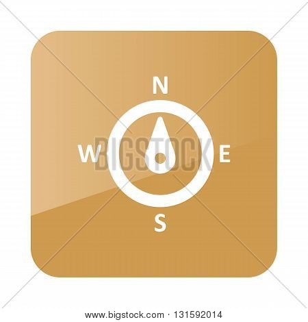 Compass wind rose outline icon. Direction north. Meteorology. Weather. Vector illustration eps 10