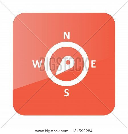 Compass wind rose outline icon. Direction southwest. Meteorology. Weather. Vector illustration eps 10