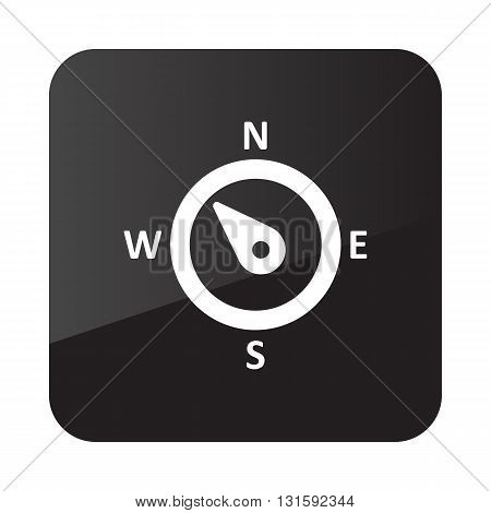 Compass wind rose outline icon. Direction northwest. Meteorology. Weather. Vector illustration eps 10