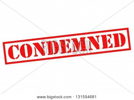 CONDEMNED red Rubber Stamp over a white background.