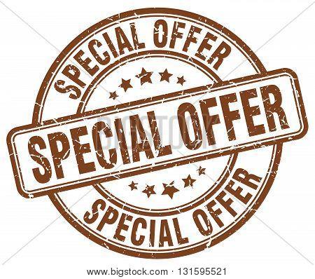 special offer brown grunge round vintage rubber stamp.special offer stamp.special offer round stamp.special offer grunge stamp.special offer.special offer vintage stamp.