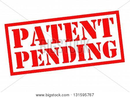 PATENT PENDING red Rubber Stamp over a white background.