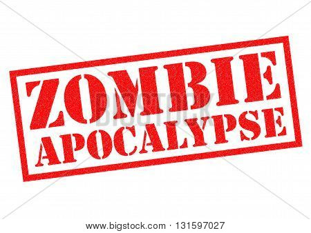ZOMBIE APOCALYPSE red Rubber Stamp over a white background.