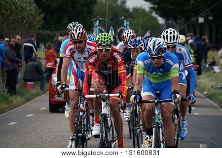 Valkenburg,The Netherlends - 23 September 2012: Professional cyclists during the cycling world championship in Valkenburg.