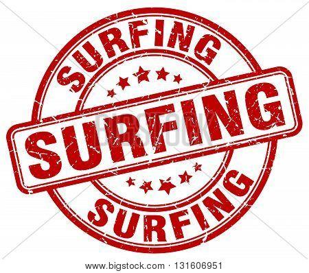 surfing red grunge round vintage rubber stamp.surfing stamp.surfing round stamp.surfing grunge stamp.surfing.surfing vintage stamp.