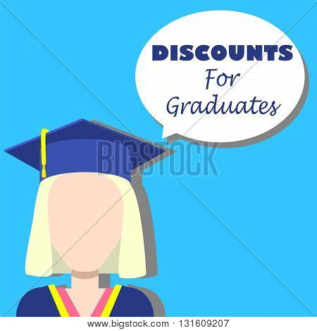 Discounts for graduates vector background student discount announcement for social media student discount picture student discount image student discount flat banner template graduate discounts