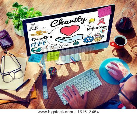 Charity Donate Welfare Generosity Charitable Giving Concept
