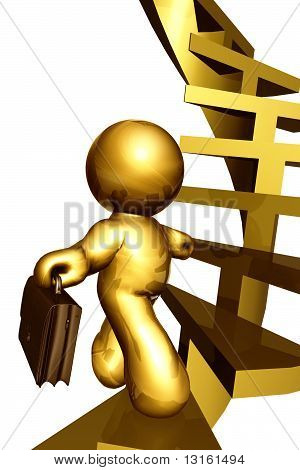 Climbing success business stairs
