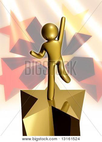 Success star pose
