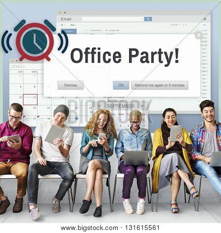 Office Party Business Commercial Entertainment Concept
