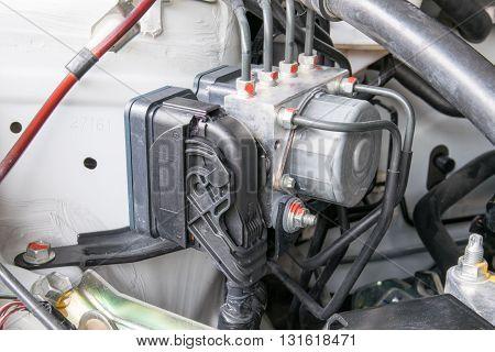 Antilock braking system abs closeup. car, system, antilock, brake, abs